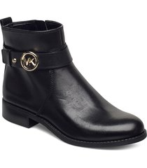 abigail flat bootie shoes boots ankle boots ankle boot - heel svart michael kors