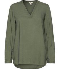 blouses woven blus långärmad grön edc by esprit