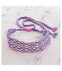 cotton macram headband, 'cotton candy swirl' (costa rica)