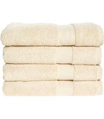 boll & branch set of 4 plush organic cotton bath towels, size one size - beige