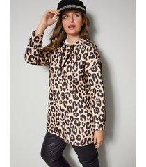 sweatshirt sara lindholm beige::zwart