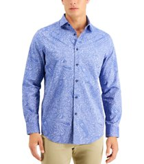 tasso elba men's casatto jacquard paisley shirt, created for macy's