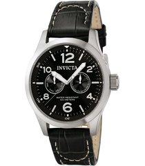 reloj invicta 0764 negro cuero hombres