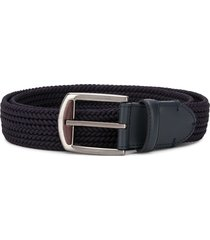 ermenegildo zegna woven cotton belt - blue