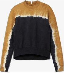 proenza schouler white label tie dye sweatshirt olive/yellow/black l