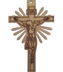 crucifixo d'rossi mdf bege - tricae