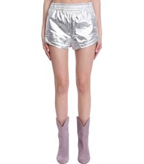 isabel marant gateci shorts in silver synthetic fibers