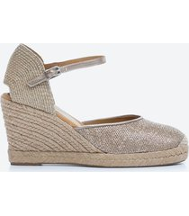 sandalia casual mujer unisa shoes sd38 dorado