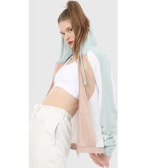 chaqueta verde-blanco-nude adidas originals hooded tt