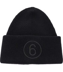 mm6 maison margiela 6 logo beanie hat