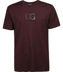 dolce & gabbana regular fit chest logo t-shirt