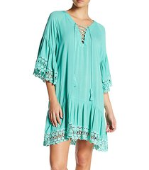 lace-up beach dress
