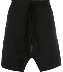 11 by boris bidjan saberi dropped crotch shorts - black