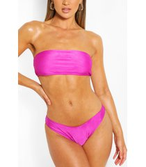 mix & match bandeau bikini top, purple