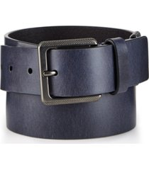 calvin klein jeans men's navy leather belt