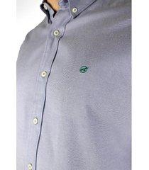 camisa azul manga larga para hombre ccm038