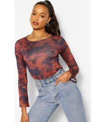 soft knit flare sleeve knitted top, navy