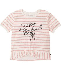 lucky brand big girl slub jersey friendship tee with front tie
