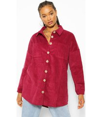 cord oversized shirt, berry