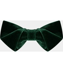 classic elegant dark green velvet pre-tied adjustable bowtie wedding best man