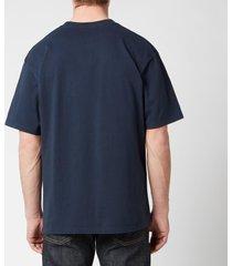 edwin men's sunset on mt fuji t-shirt - navy blazer - xl