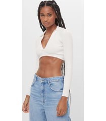 cropped trui in polostijl