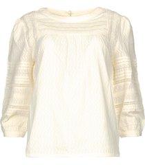 blouse met ajour joi  naturel