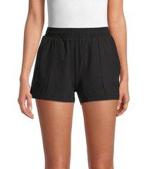 marc new york performance women's commuter active pintuck shorts - black - size l