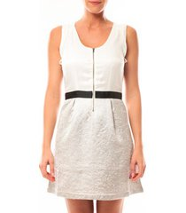 korte jurk vero moda nella s/l short dress 10107365 blanc/beige