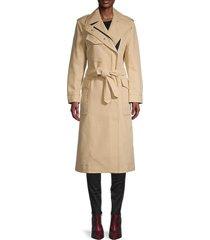 rag & bone women's cotton twill trench coat - khaki - size xs