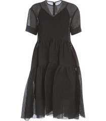 victoria beckham exagerated cocoon dress