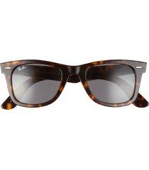 ray-ban 'classic wayfarer' 50mm sunglasses - havana/ dark grey solid