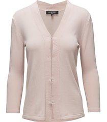 cardigan stickad tröja cardigan rosa ilse jacobsen