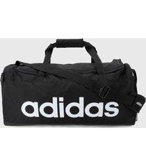 maletín negro-blanco adidas performance linear
