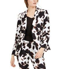 calvin klein x-fit cow-print one-button blazer