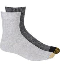 gold toe women's 2-pk. ultra soft recycled cable crew socks