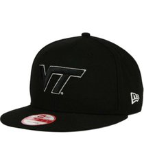 new era virginia tech hokies black white 9fifty snapback cap