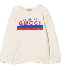 gucci ecru cotton sweatshirt
