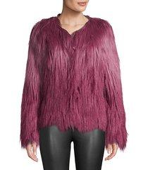 ombré faux fur jacket