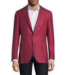 regular-fit silk-cashmere blazer