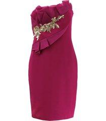 strapless draped bodice dress
