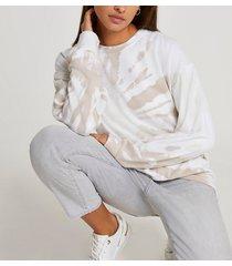 river island womens beige tie dye long sleeve sweatshirt