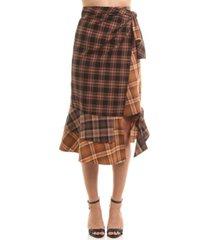 colcci sophia plaid midi skirt