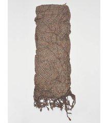 bufanda elastizada marrón spiga 31