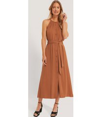 trendyol binding detail midi dress - copper
