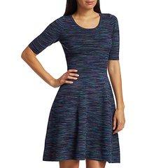 spacedye fit-&-flare dress