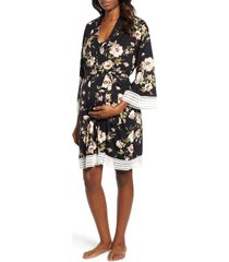 women's angel maternity maternity/nursing dress, robe & blanket set