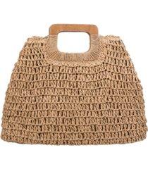 melie bianco harley straw large tote bag