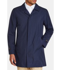 tallia men's slim fit solid packable trench coat
