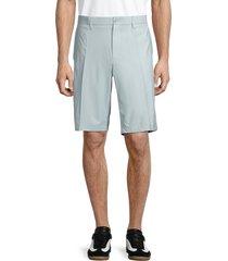 j. lindeberg men's somle tapered flat-front shorts - stone grey - size 30
